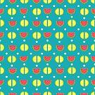 Summer time fruits pattern design by Angela Sbandelli