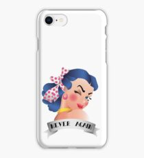 Never Again Pin-up iPhone Case/Skin