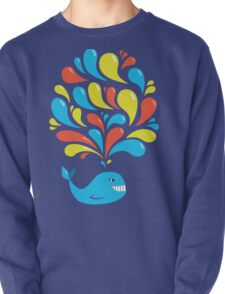 Dark Colorful Splash Happy Cartoon Whale T-Shirt