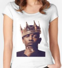"""Kendrick Lamar - """"The king"""" Women's Fitted Scoop T-Shirt"""