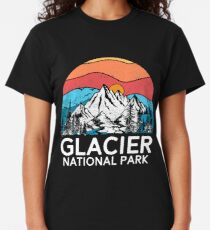 Vintage Glacier National Park Retro 80s Montana Mountain Classic T-Shirt