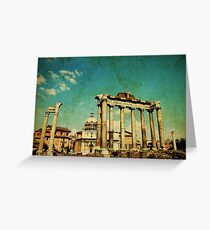 Temples of Saturn & Vespasian, Rome Greeting Card