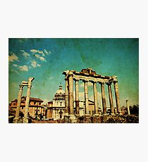 Temples of Saturn & Vespasian, Rome Photographic Print