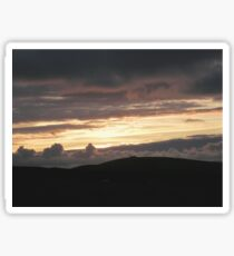 Honey sunset - Donegal Ireland Sticker