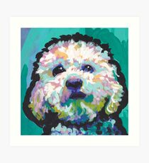 Poodle Maltipoo Dog Bright colorful pop dog art Art Print