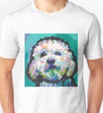Poodle Maltipoo Dog Bright colorful pop dog art Unisex T-Shirt