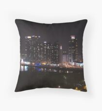 Busan in the Evening Throw Pillow