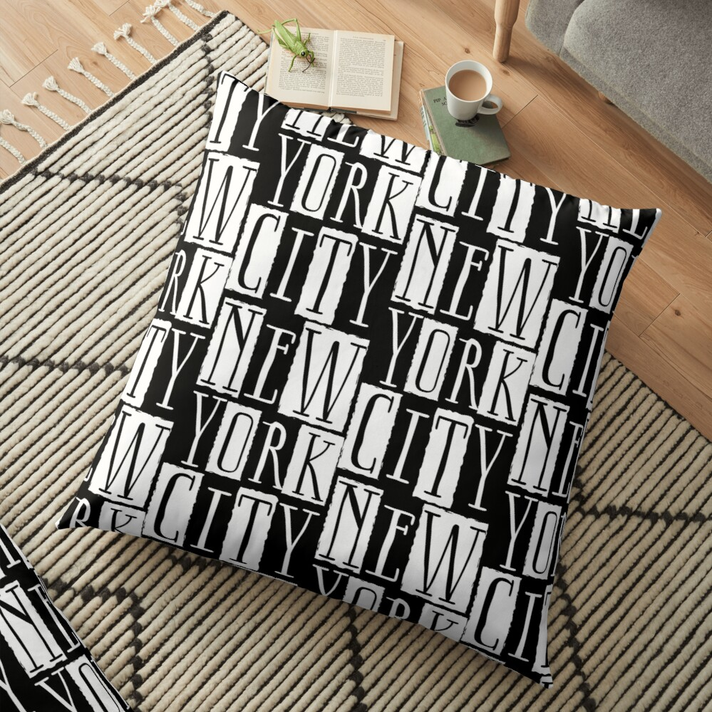 New York City Funky Modern Design Floor Pillow
