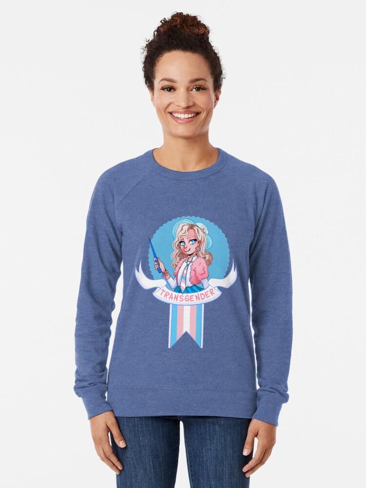 Alternate view of I was sorted into the Transgender House (fem) Lightweight Sweatshirt