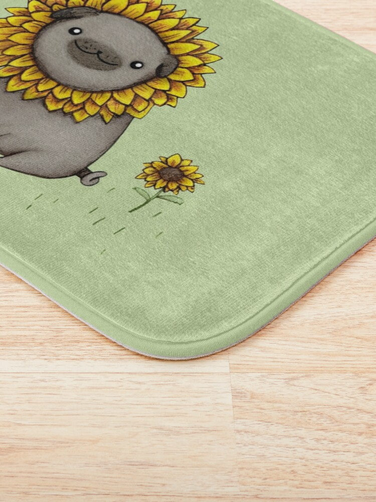 Alternate view of Pugflower Bath Mat