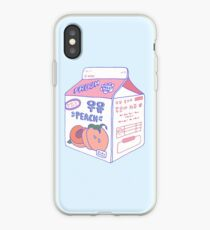 Pfirsich-Milch-Karton iPhone-Hülle & Cover