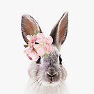 Kaninchen mit Blumen, Kinderzimmerkunst, Kinderzimmer, Tier von juliaemelian