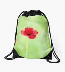 Poppy (Poppies) in Field Drawstring Bag