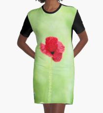 Poppy (Poppies) in Field Graphic T-Shirt Dress