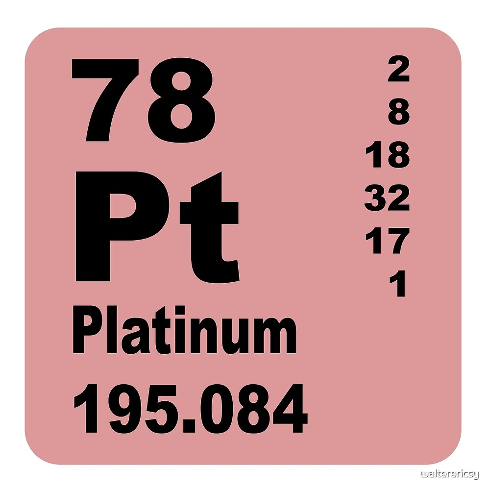 Platinum periodic table of elements by walterericsy