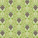 Pinecone Forest Pattern Illustration by Amanda Weedmark