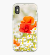 Poppy in the Field of Daisies iPhone Case
