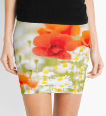 Poppy in the Field of Daisies Mini Skirt