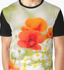 Poppy in the Field of Daisies Graphic T-Shirt