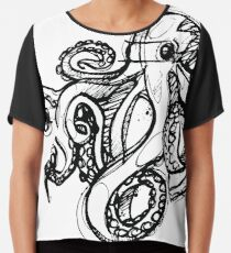 Octopus Outlines Sketch Linework drawing Chiffontop