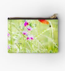 Poppies and Sweet Peas Zipper Pouch