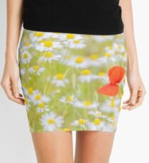 Field of Daisies and the Lonely Poppy Mini Skirt