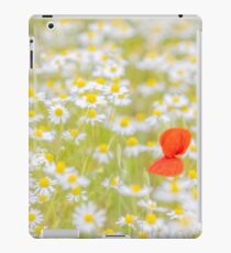 Field of Daisies and the Lonely Poppy iPad Case/Skin