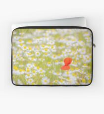 Field of Daisies and the Lonely Poppy Laptop Sleeve