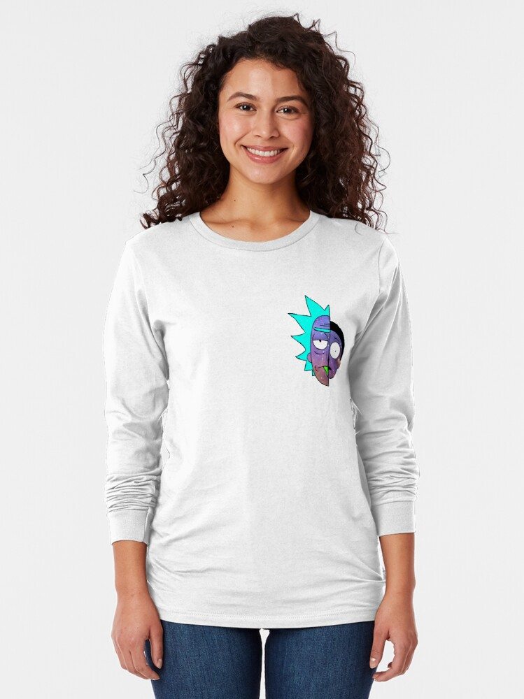 Alternate view of Galactic Rick and Morty Long Sleeve T-Shirt