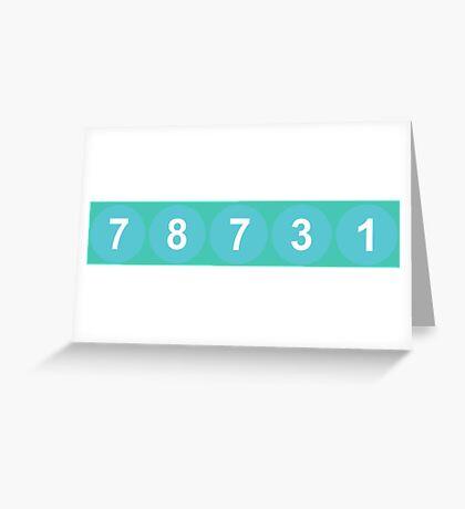 78731 ZIP Code Austin, Texas Greeting Card