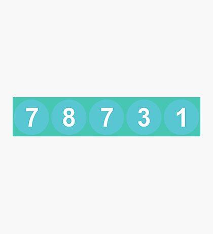 78731 ZIP Code Austin, Texas Photographic Print