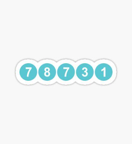 78731 ZIP Code Austin, Texas Sticker