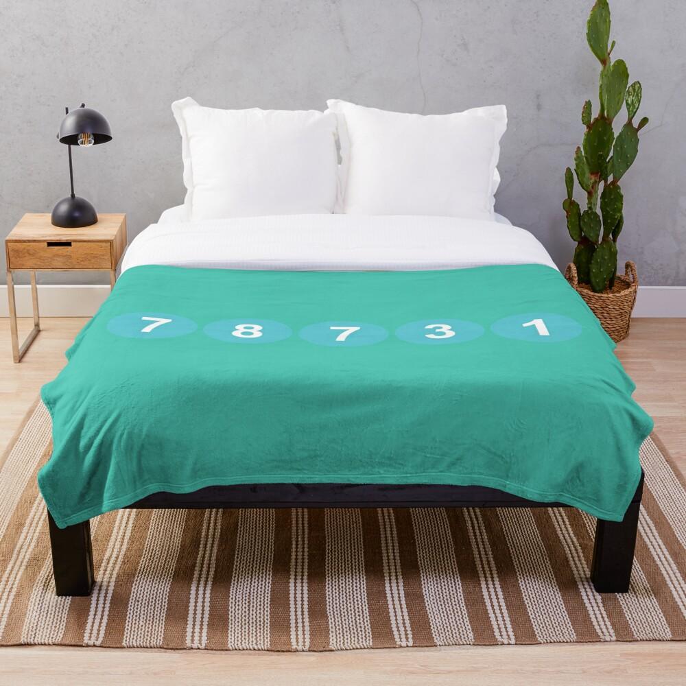 78731 ZIP Code Austin, Texas Throw Blanket