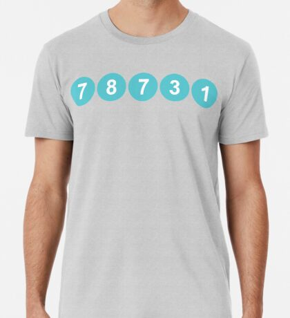 78731 ZIP Code Austin, Texas Premium T-Shirt