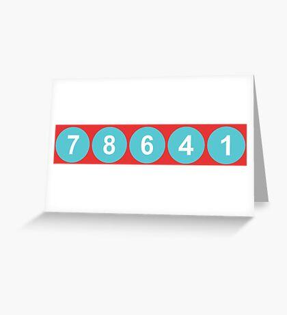 78641 ZIP Code Leander, Texas  Greeting Card