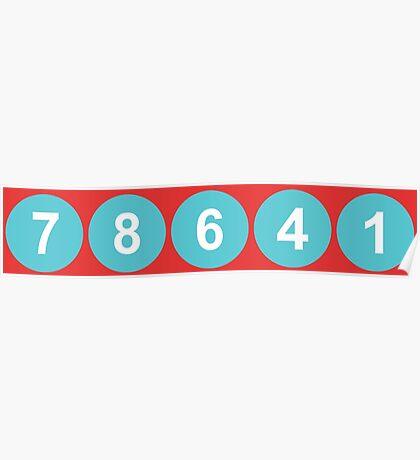 78641 ZIP Code Leander, Texas  Poster