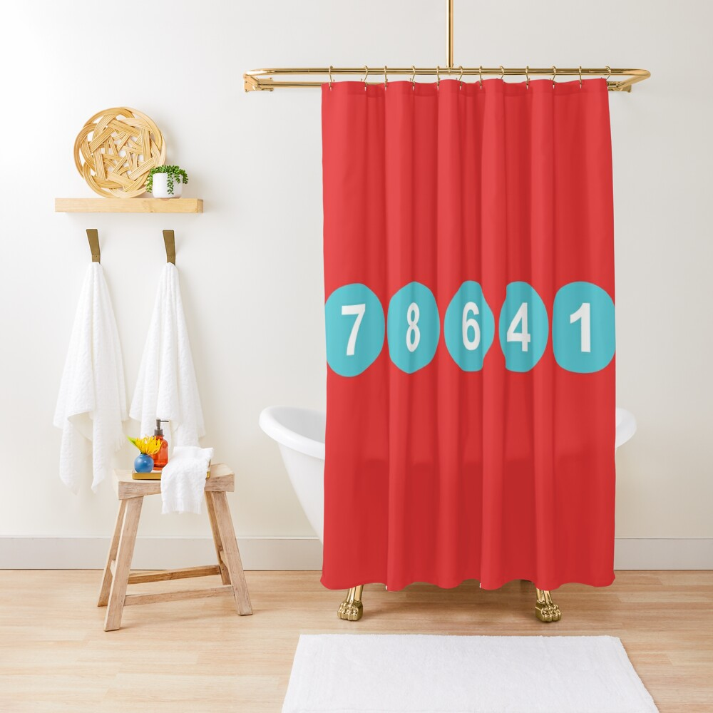 78641 ZIP Code Leander, Texas  Shower Curtain