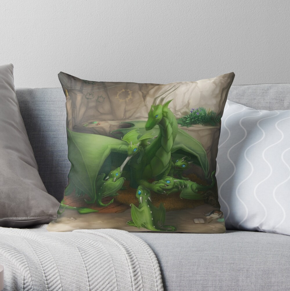 Preoccupied Progenitor Throw Pillow