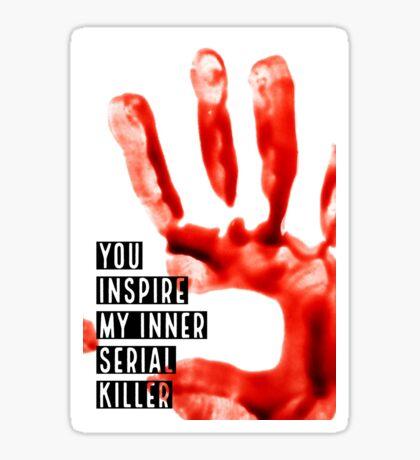 Serial Killer Bloody Handprint Graphic Sticker