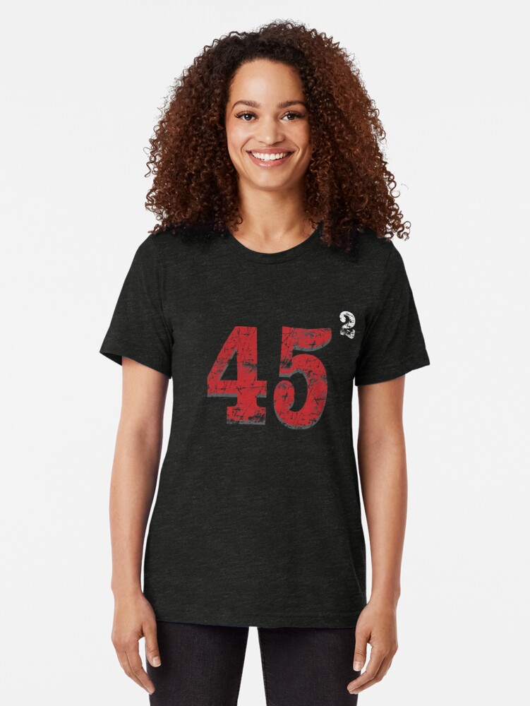 Alternate view of 45 to the power of 2 (ReElect President Trump ) Tri-blend T-Shirt