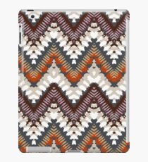 Bohemian print with chevron pattern in light brown colors iPad Case/Skin