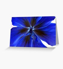 A blue flower Greeting Card