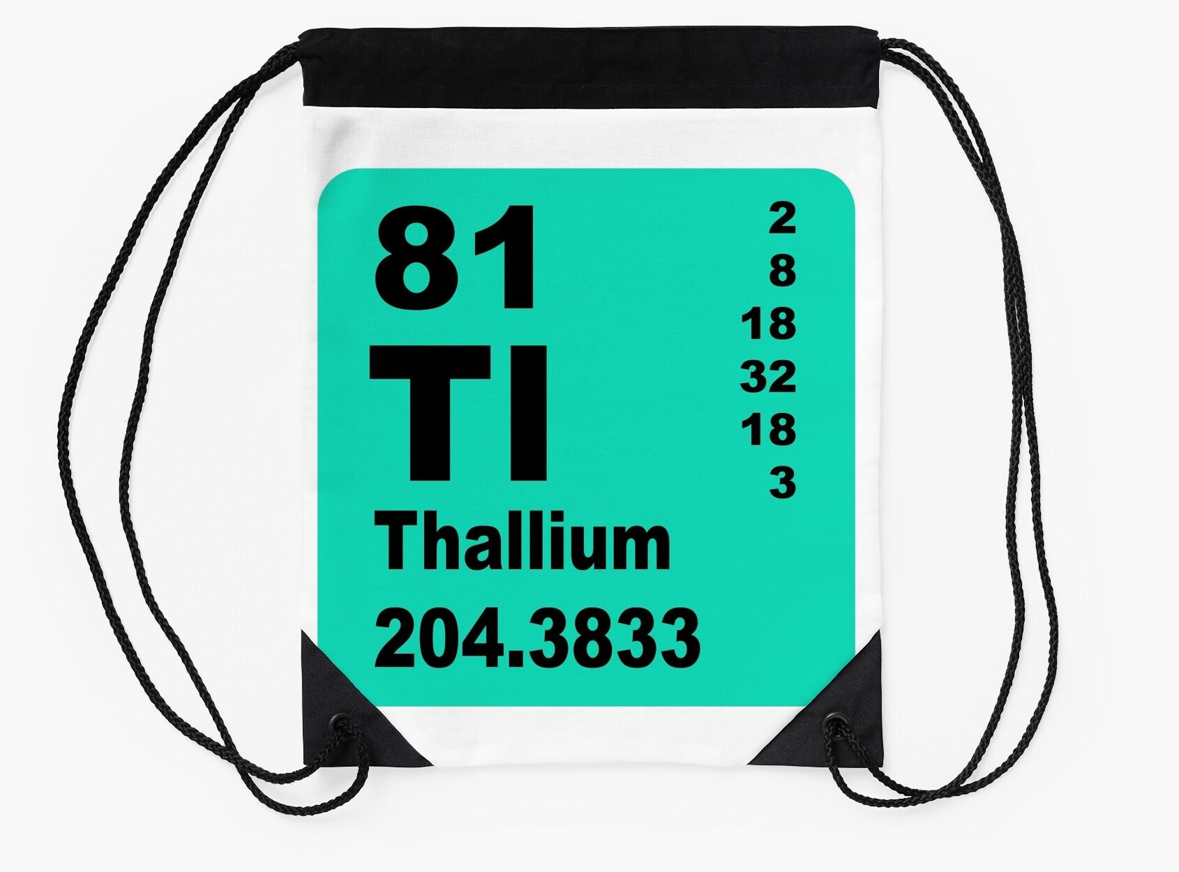 Thallium periodic table of elements drawstring bags by thallium periodic table of elements gamestrikefo Images