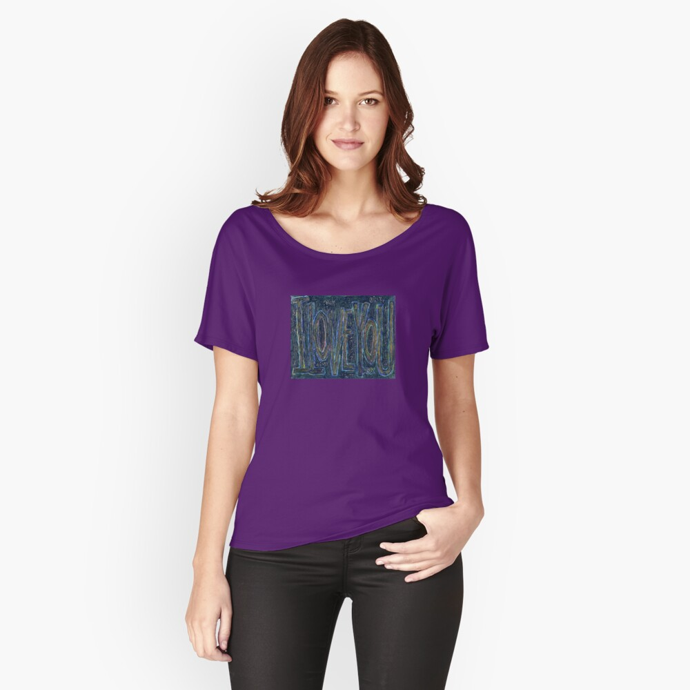 I Love You -  Brianna Keeper Painting Relaxed Fit T-Shirt