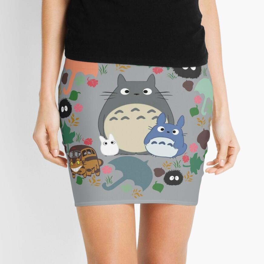 Mein Nachbar Totoro Kranz - Anime, Catbus, Ruß Sprite, Blau Totoro, Weiß Totoro, Senf, Ocker, Regenschirm, Manga, Hayao Miyazaki, Studio Ghibl Minirock