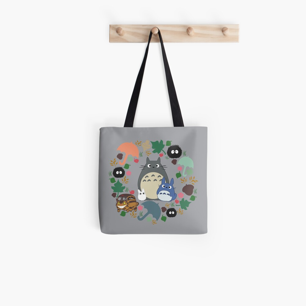 Mein Nachbar Totoro Kranz - Anime, Catbus, Ruß Sprite, Blau Totoro, Weiß Totoro, Senf, Ocker, Regenschirm, Manga, Hayao Miyazaki, Studio Ghibl Stofftasche