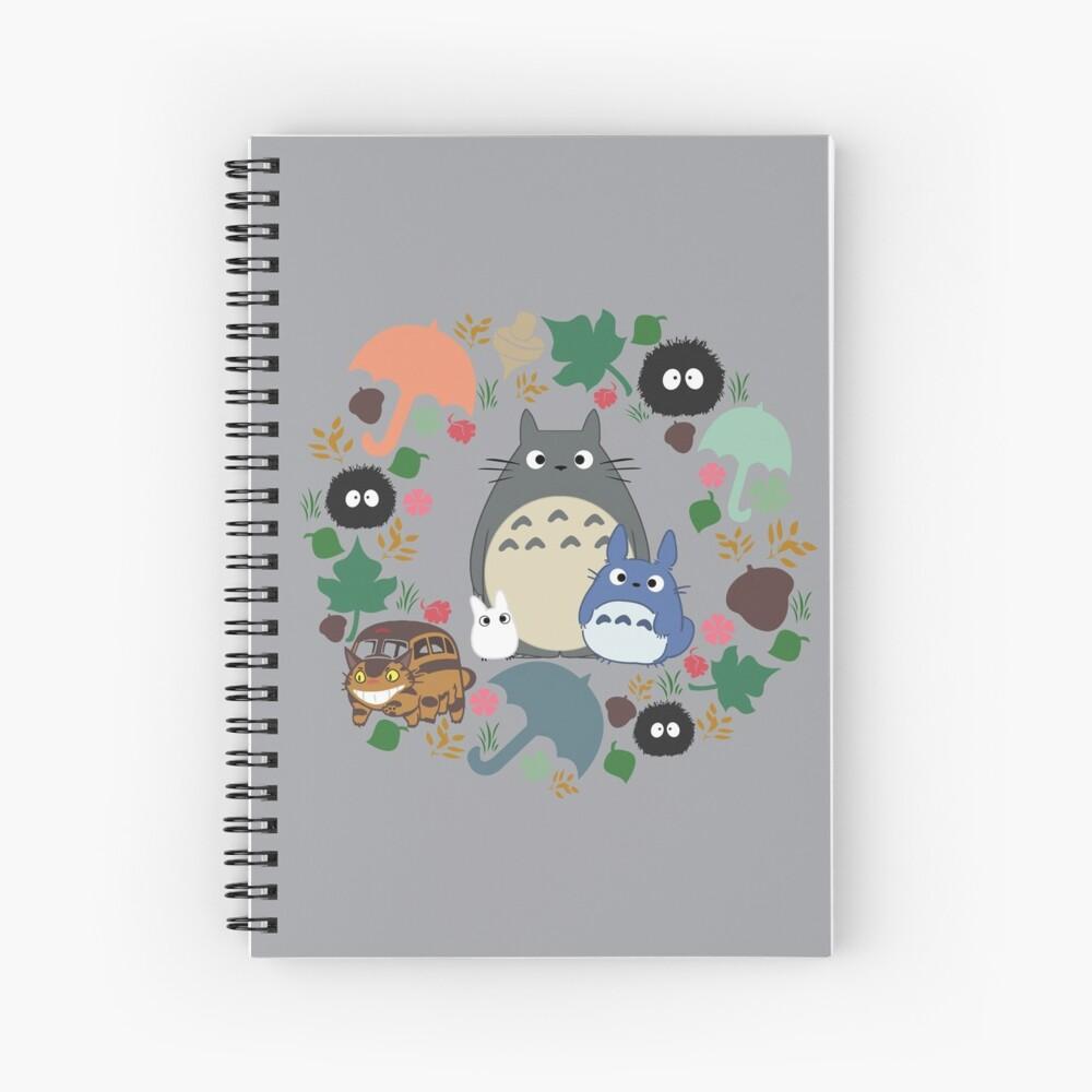 Mein Nachbar Totoro Kranz - Anime, Catbus, Ruß Sprite, Blau Totoro, Weiß Totoro, Senf, Ocker, Regenschirm, Manga, Hayao Miyazaki, Studio Ghibl Spiralblock