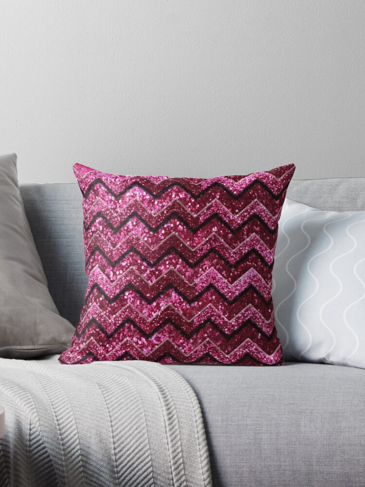 Cute Pink Chevron Glitter Pattern by frittata