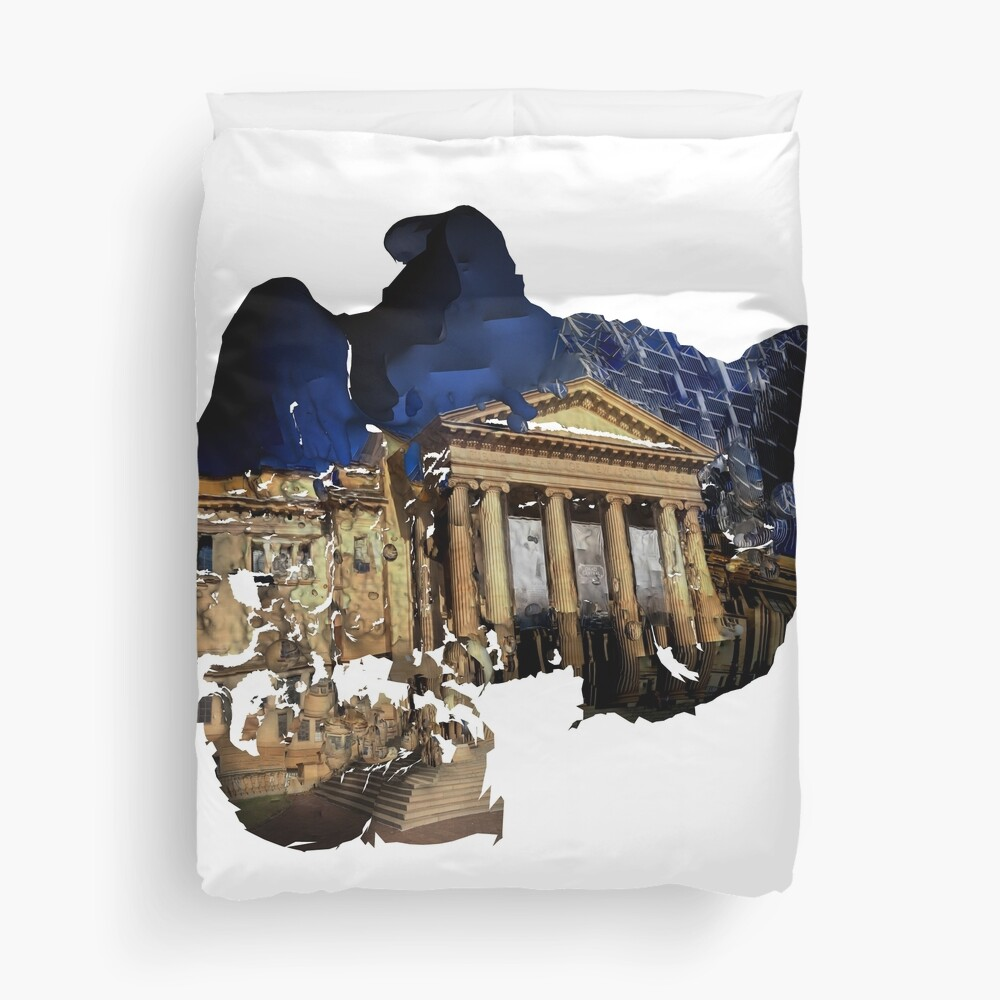 David Scott Mitchell Library Duvet Cover