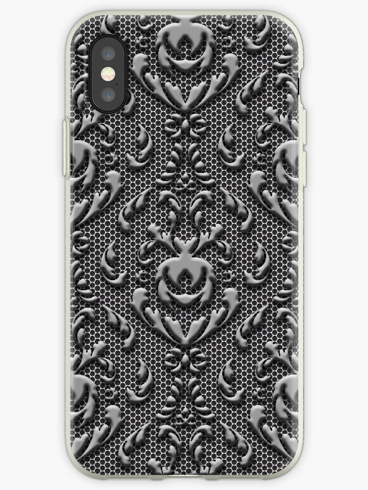 Vintage Damask Pattern Metal Look by frittata